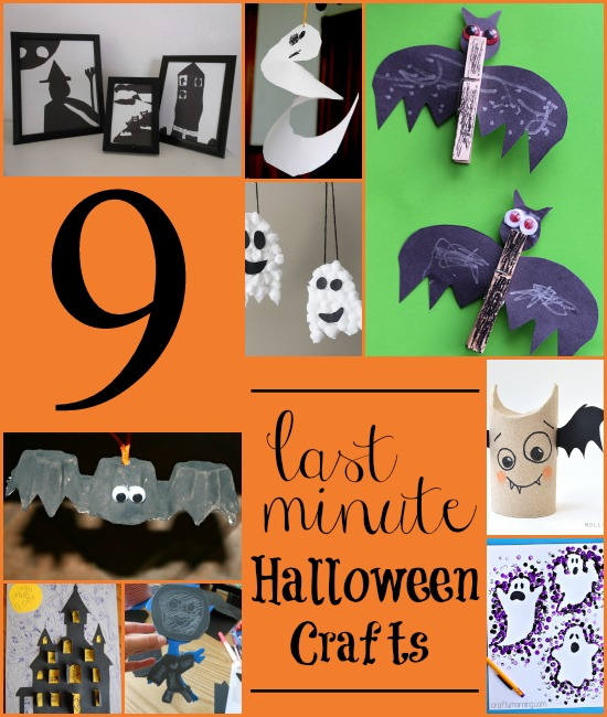 Last minute Halloween craft ideas for kids