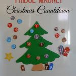 Magnetic Christmas Tree Countdown Calendar