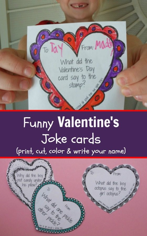 photograph about Funny Printable Valentines Cards titled Humorous Valentines Working day Playing cards - Printable Joke Playing cards for Youngsters