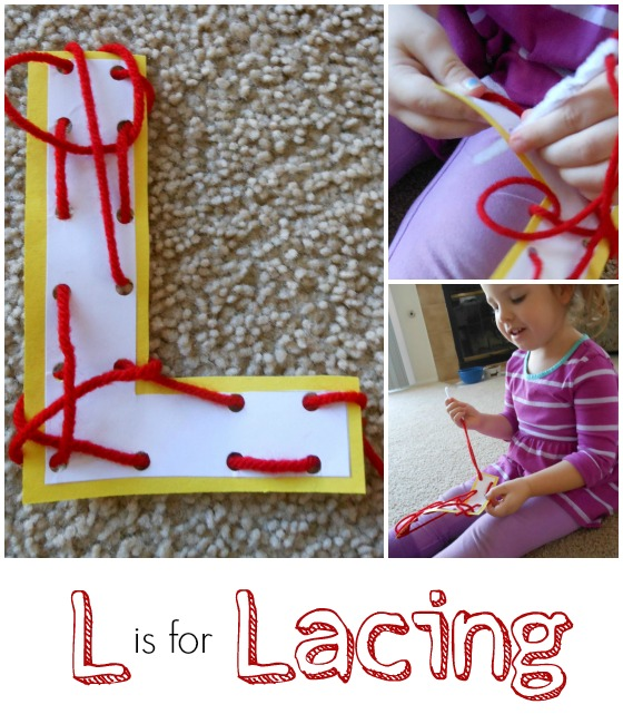 Letter L Activity: Lacing