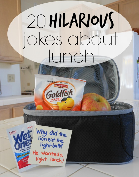 20 hilarious jokes about lunch! Just in time for back to school.