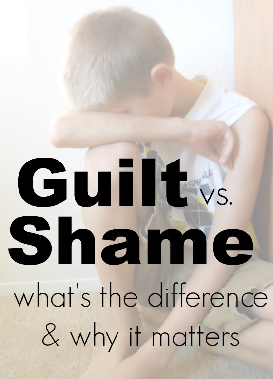 Love these points about guilt vs shame!