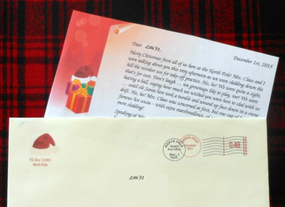 Letter from Santa! how cool