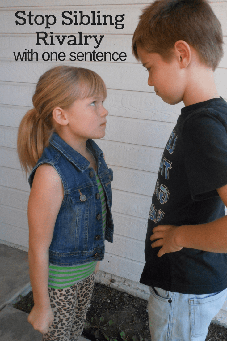 Stop sibling rivalry with this one sentence!