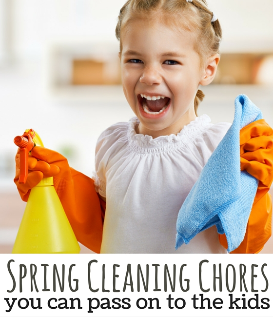 20 chores the kids can do to help with spring cleaning. LOVE THIS!