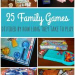 25 Best Family Games {for the amount of time you have to play!}