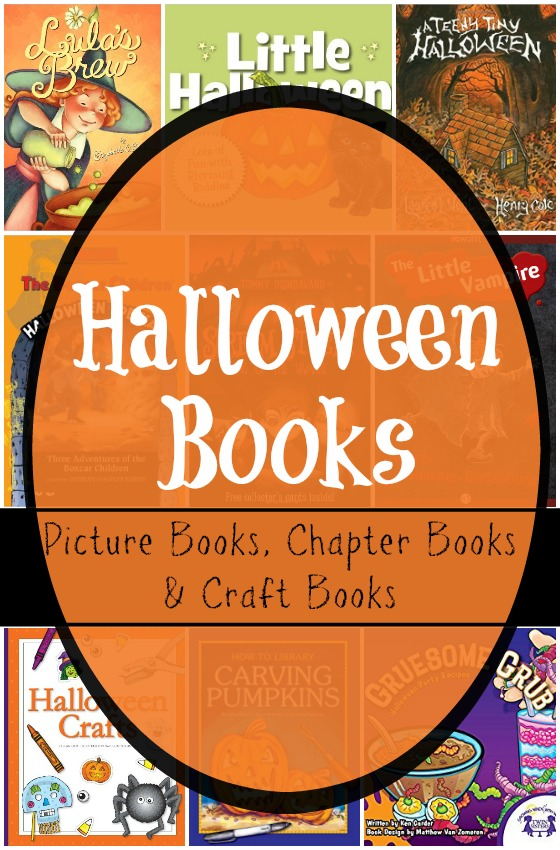 9 Halloween Books for kids. Craft books, picture books and chapter books