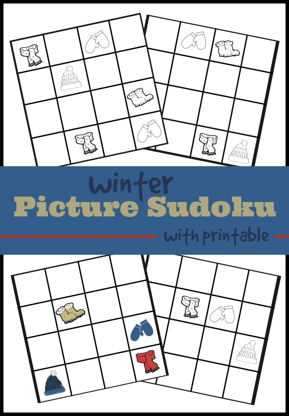 Printable picture Sudoku for kids.