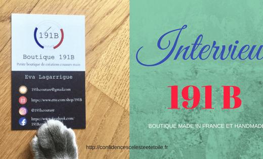 interview de la boutique d accessoires handmade et made in france 191 B qui réalise des accessoires pour animaux et humains