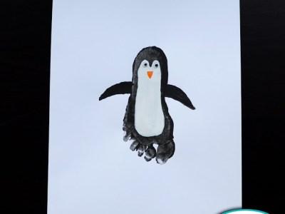 Dessiner Un Pingouin Avec Une Empreinte Confidences De Maman