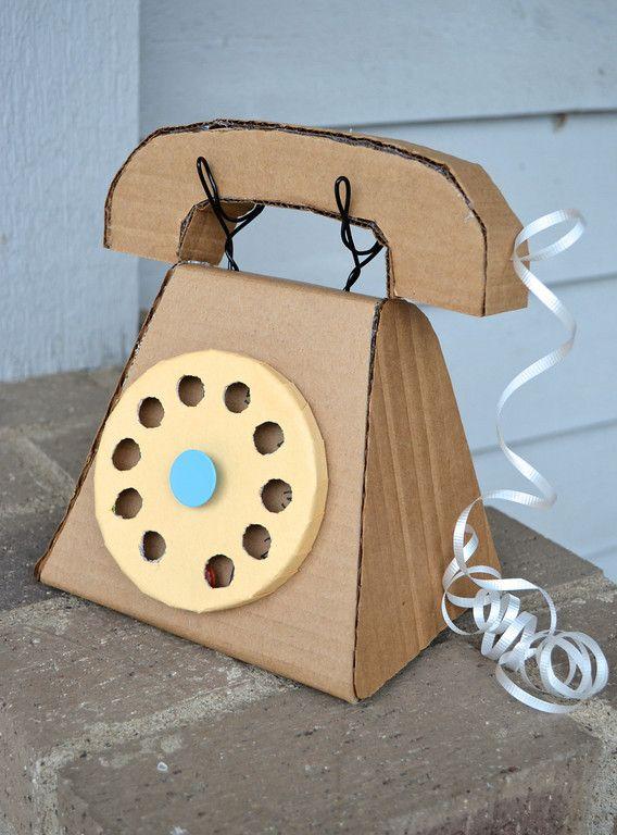 Tuto pour fabriquer un téléphone en carton