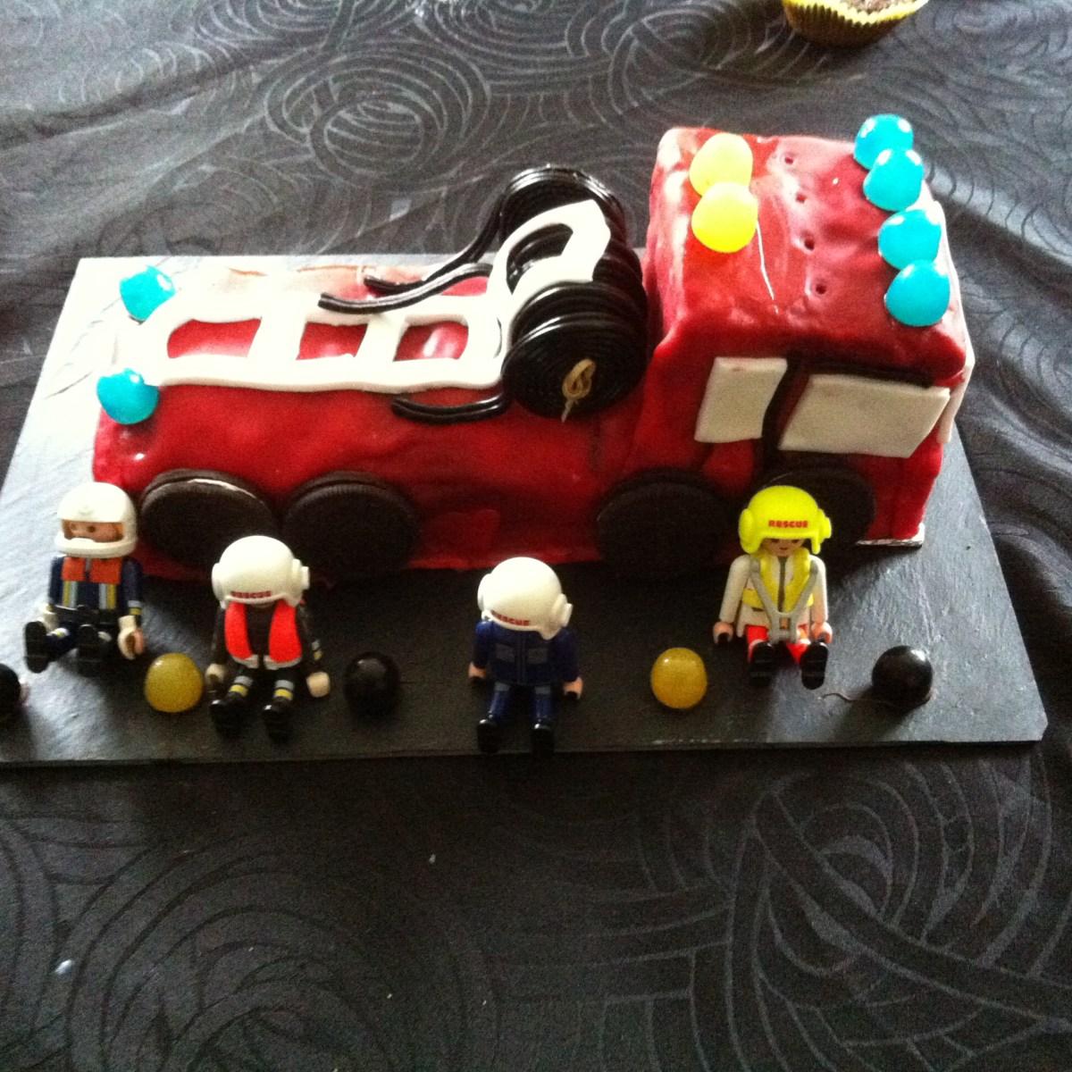 Gateau d'anniversaire Camion de pompier