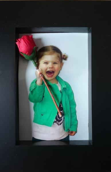 cadre photo avec rose