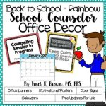 Back to School Rainbow Office Decor Bundle