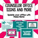 Counselor Office Signs