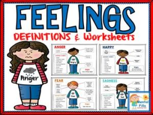 Feelings Definitions and Worksheets