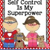 Self Control is My Super Power Mini Booklet