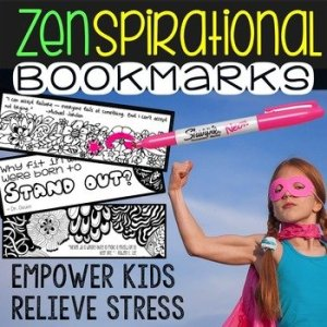 Back to School Year Supply of Weekly Bookmarks Promoting Mindfulness