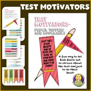 Test Taking Pencil Toppers
