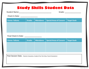 teaching study skills make sure to collect student data