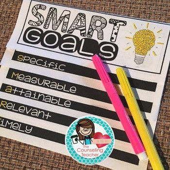 SMART Goals flip book to help students set goals that will work.