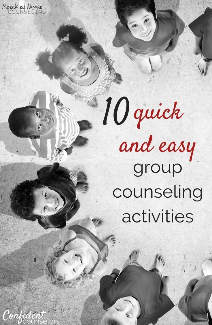 Group counseling planning is a breeze with these 10 quick & easy group counseling activities. Students will love these easy to prep and engaging activities.