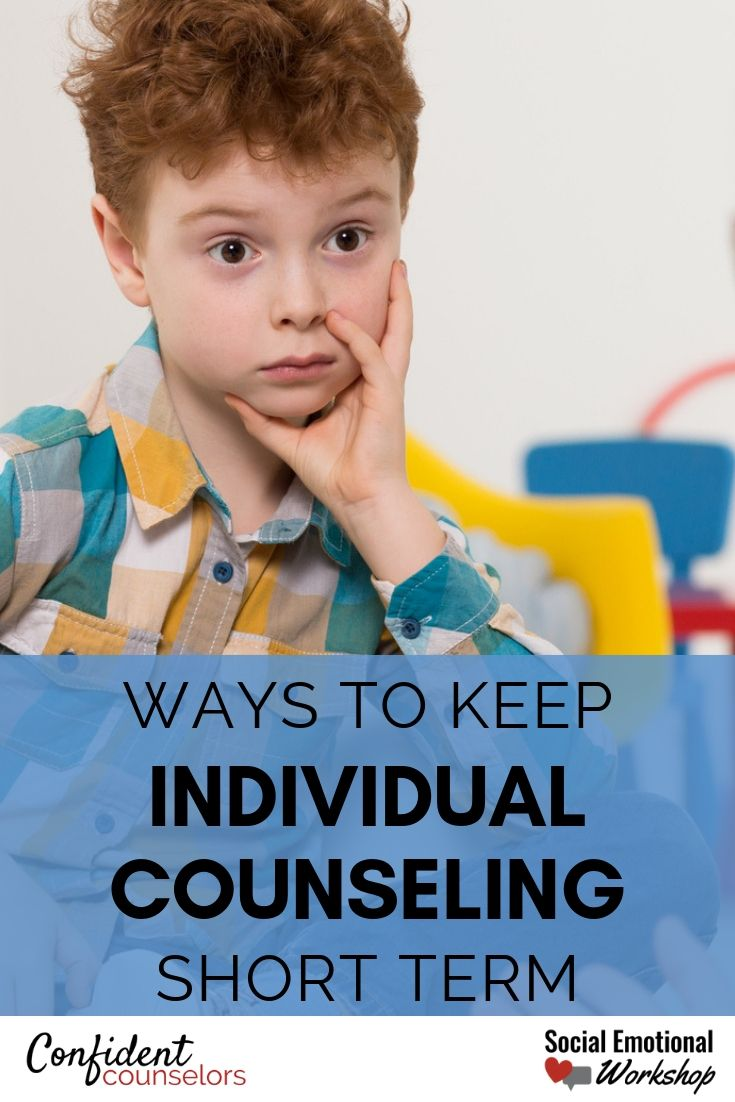 Keeping individual counseling short term as a school counselor with these 6 tips. Stop being rigid about how many sessions and start putting student goals at the center of individual counseling.