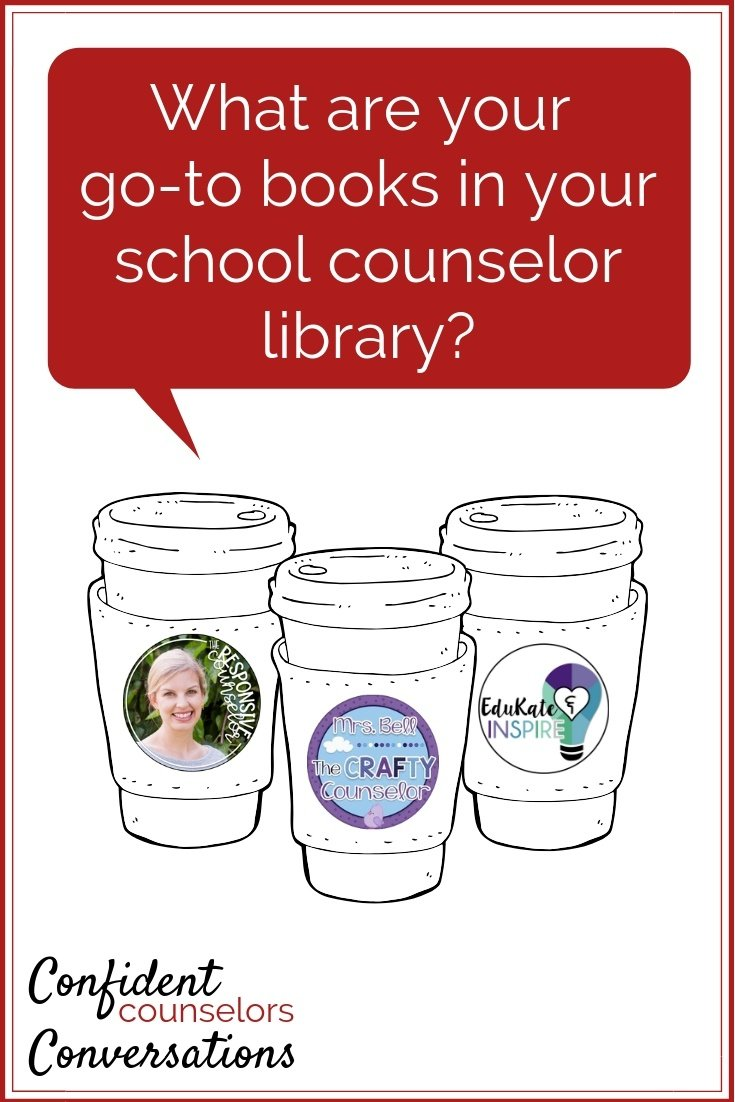 What is in your school counselor library? Do you have favorite books that help you explain social emotional concepts easily? Check out what three Confident Counselors can't live without.