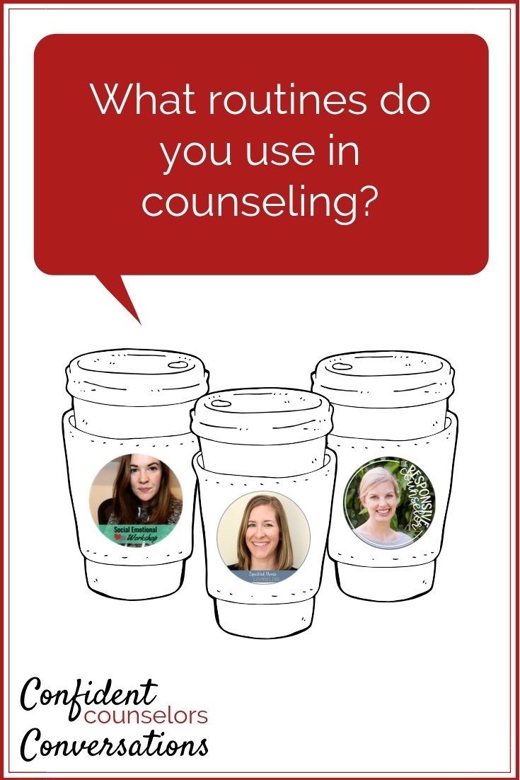 Counseling Routines can be an incredible help to making planning easier, helping students feel at easy, and saving time each session.