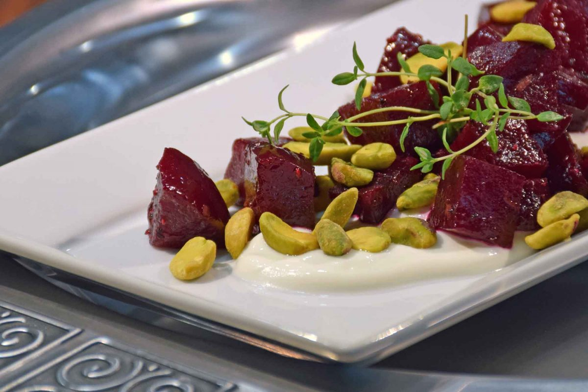 Baked Beets With Pistachios