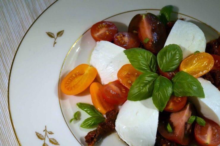 Mozzarella Kumato Salad Recipe-Confident in the Kitchen-Jean Miller