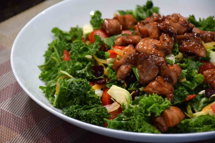 Kale with Glazed Chicken