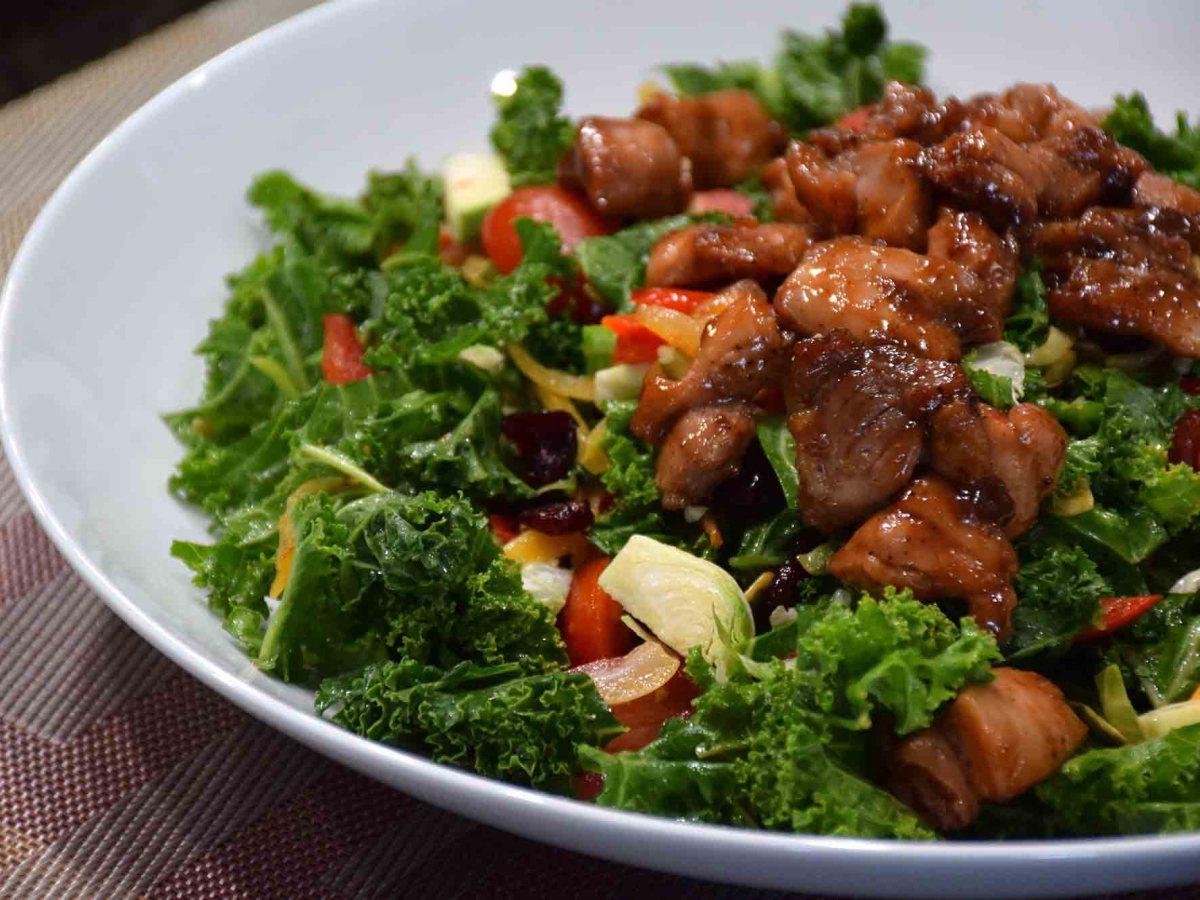 Kale with Glazed Chicken
