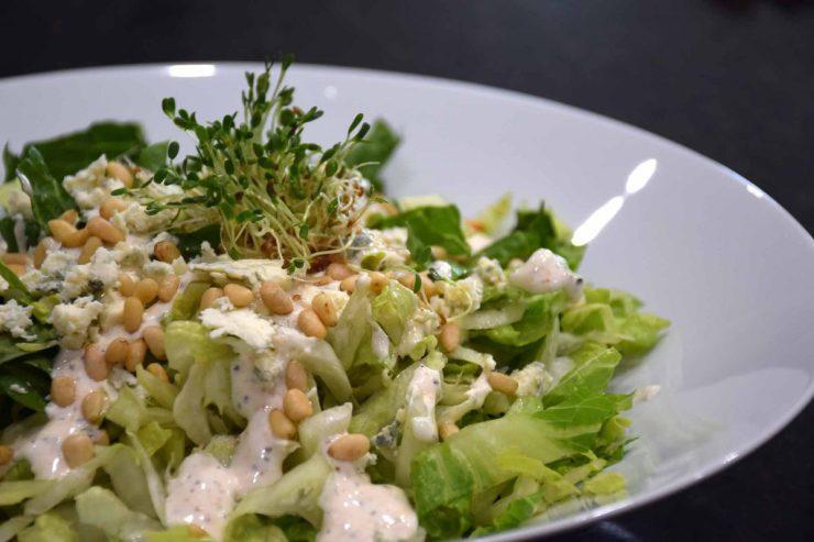 Bleu Cheese Pignoli Salad Recipe-Confident in the Kitchen-Jean Miller