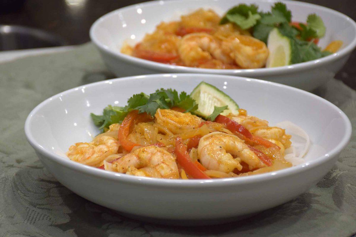 Chili Lime Shrimp Noodle Bowl
