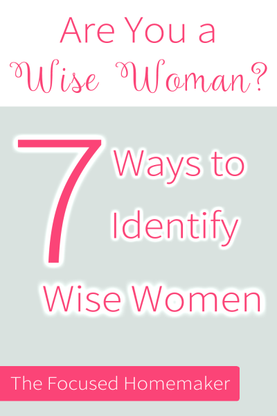 are you a wise woman