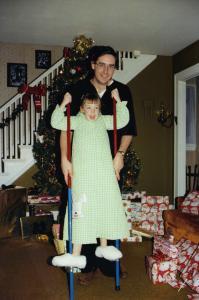 stilts play at Christmas 001