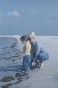Jenn, Mom on beach pic