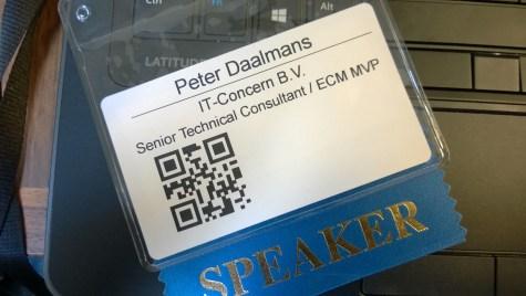 Speaker badge