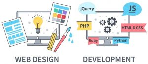 webdesign and development banner