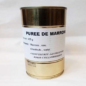 PUREE DE MARRONS – Collobrières – fabrication artisanale –  Poids net : 435g
