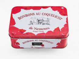 BONBONS AU COQUELICOT DE NEMOURS – boite en fer -160G
