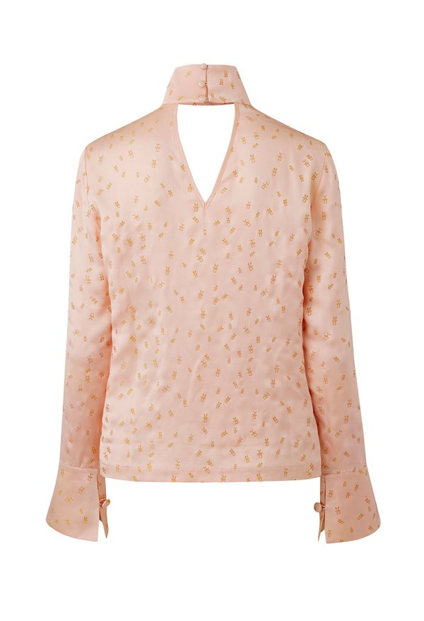 Amy Silk Foil Blouse