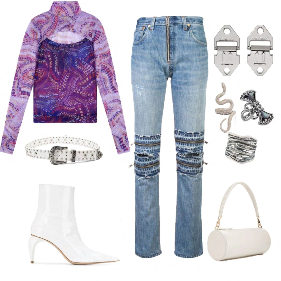 Ada Cut-out Mesh Top Styling Ideas