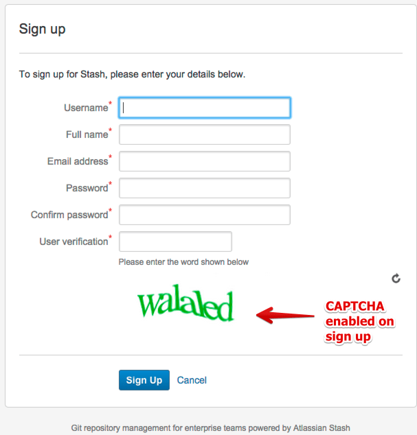 how to configure captcha