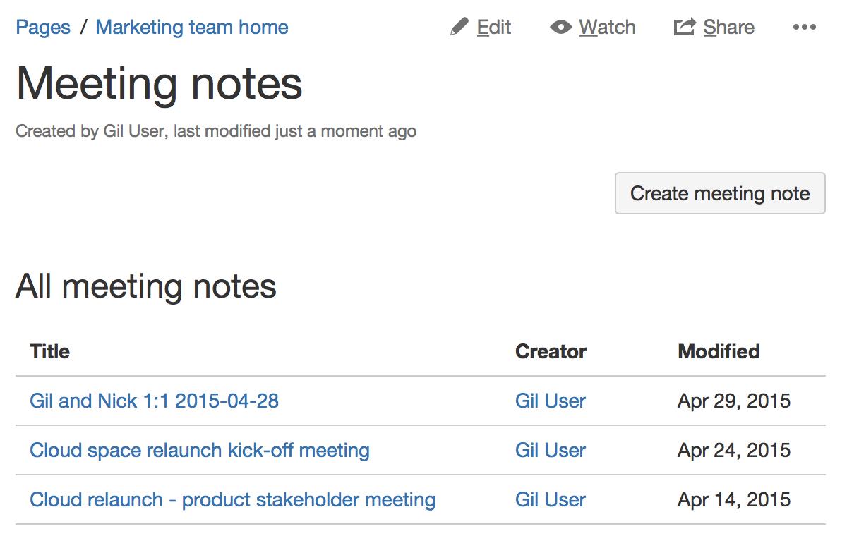Meeting Notes Blueprint