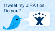 Tips via Twitter for JIRA issue tracker