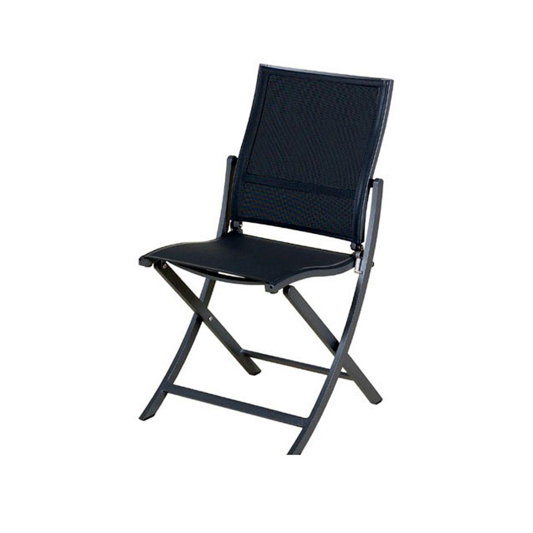 chaise pliante koton structure gris espace toile gris chine les jardins