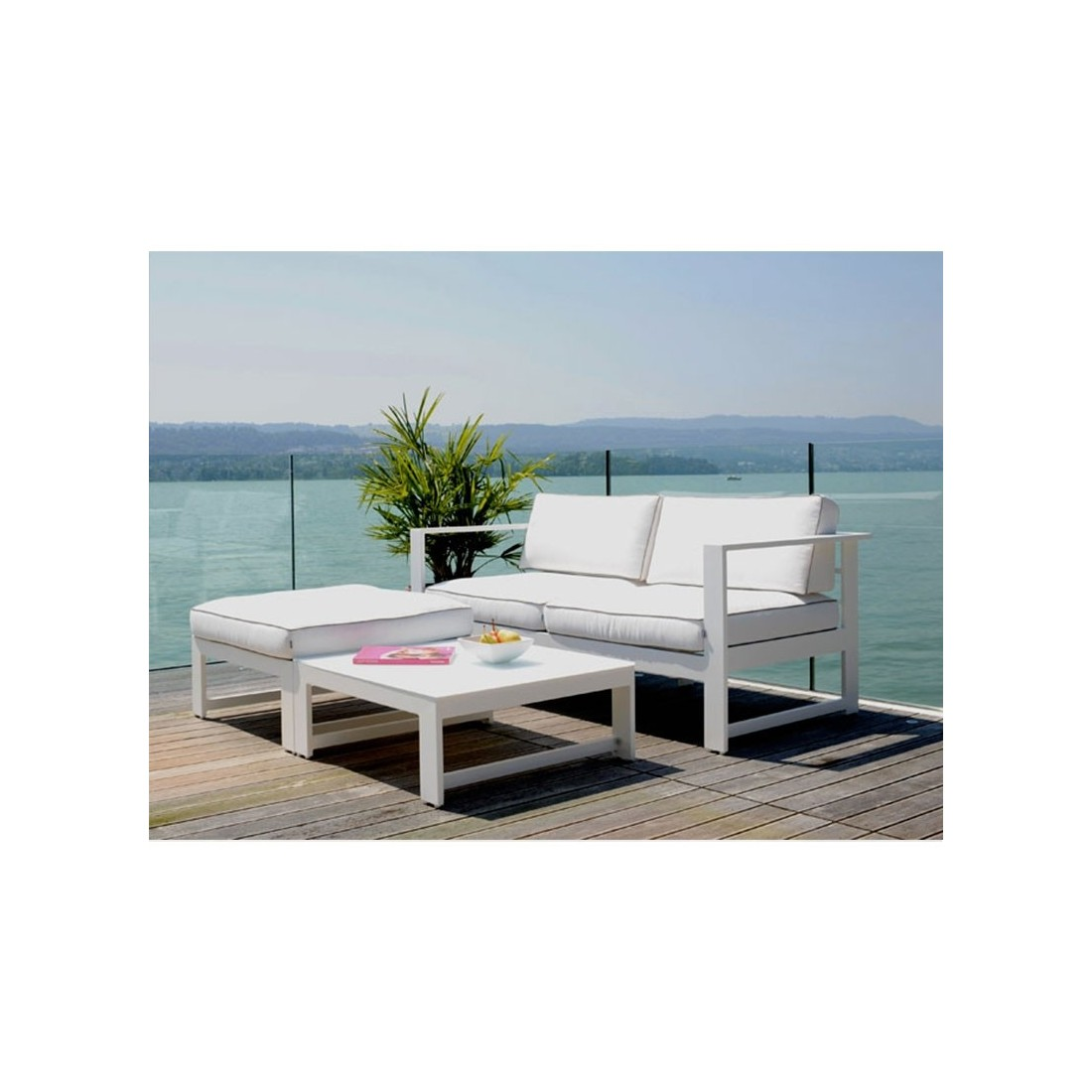 Salon De Jardin Ice Proloisirs En Aluminium | Table Latino 126 Ice ...