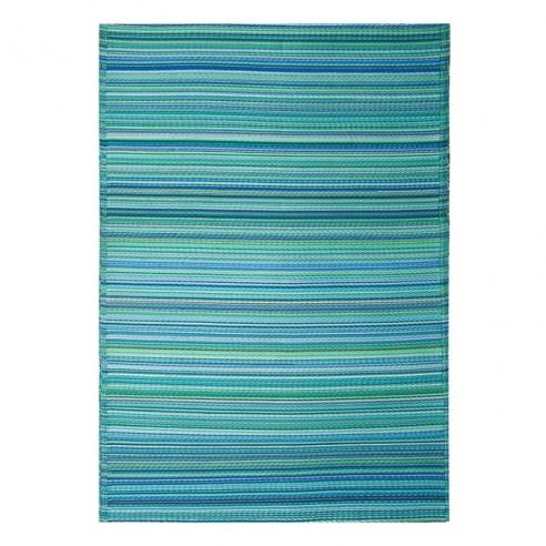 tapis interieur exterieur cancun turquoise vert mousse fab hab